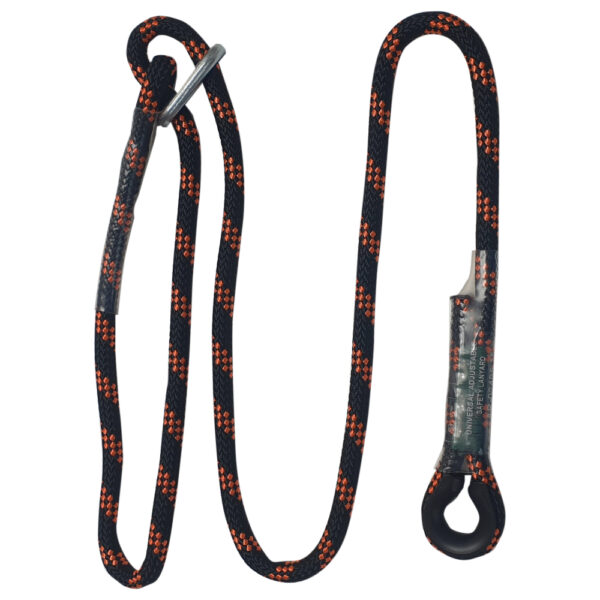 Adjustable Length Rope Lanyard with Carabiners – AR-02405/15 – 1.5m