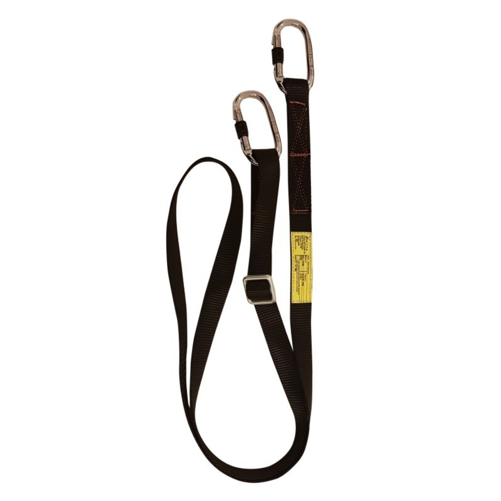 Restraint Lanyard – 2M Adjustable Webbing – ARESTA MEWP AR-01024/20 – 2m