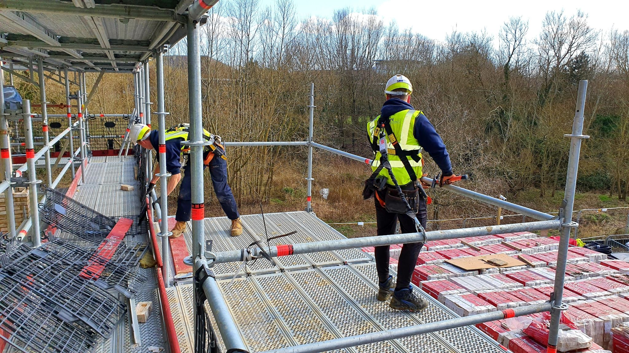 Scaffolders choice of safety harness