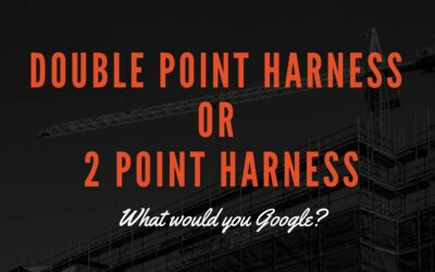 What is a double point or two point safety harness?